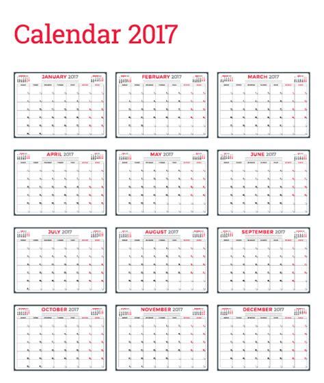 wall calendar template common 2017 wall calendar template vector 12 vector