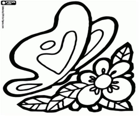 dibujo de mariposa en flores para colorear juegos de mariposas para colorear imprimir y pintar