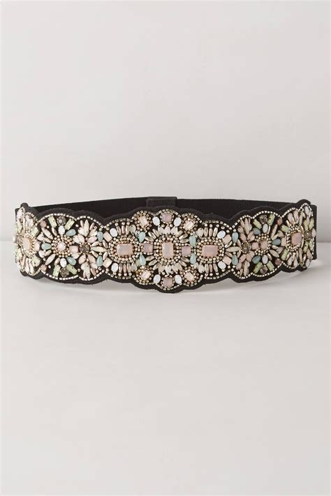 bead belt anthropologie bloomhurst beaded belt in purple lyst