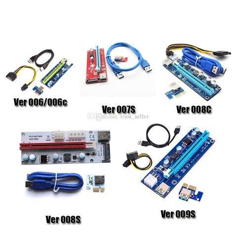 Pcie Riser Ver 009s Pci E Usb 3 0 acquista pci e ver 006 006c 007s 008c 009s ver006c ver008c ver009s express riser card 1x 16x