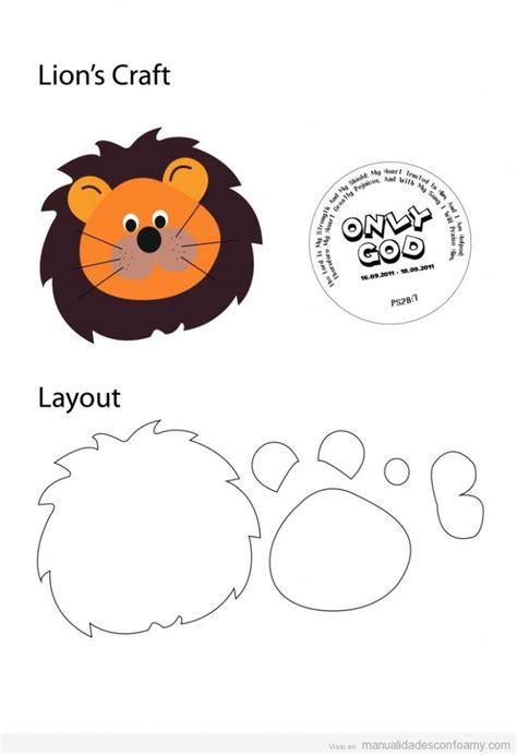 molde para goma eva de leon le 243 n archivos manualidades con foamy