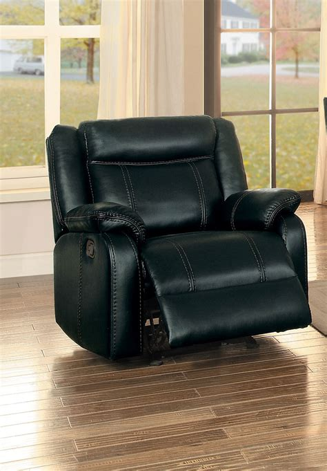 Homelegance Jude Reclining Sofa Set Black Leather Gel Black Reclining Sofa Set