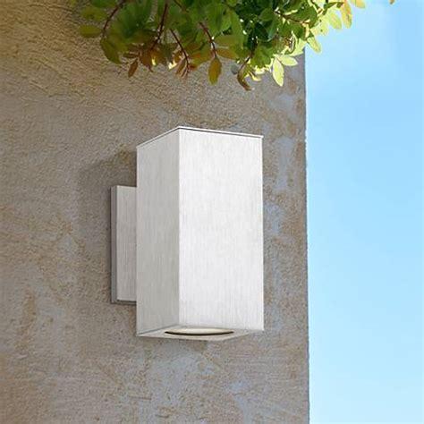 possini outdoor wall light possini clovis 8 1 4 quot high steel led outdoor wall
