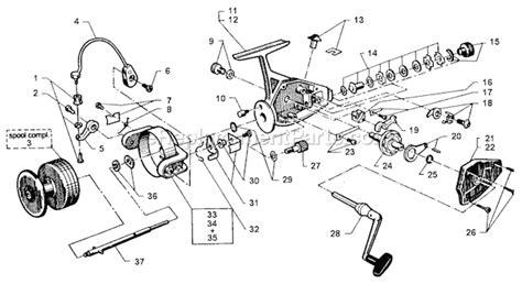 abu garcia reel parts diagram abu garcia 556bw parts list and diagram 83 3