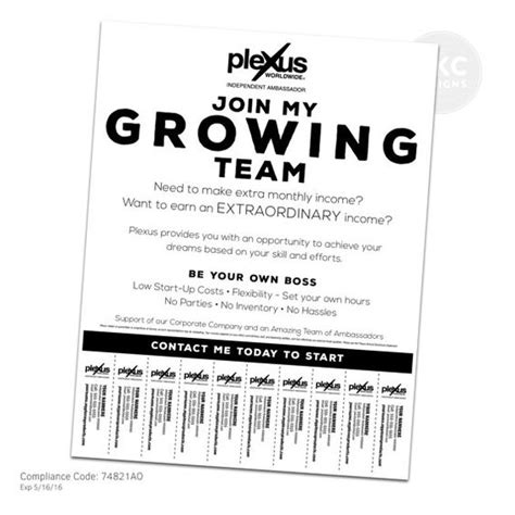 tear tab flyer template plexus business building flyer with tear tabs