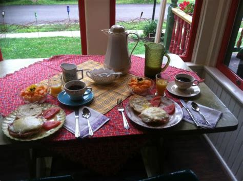 local bed and breakfast a full breakfast of fine local foods picture of barnard
