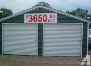 two car garage installed barns carports more tn al ar