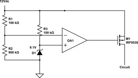 diode comparator circuit using a zener for reference voltage electrical engineering stack exchange