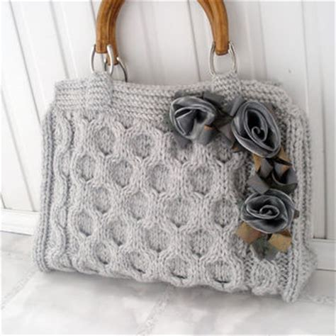 Handmade Bag Ideas - gray knitted tote bag office from heartygift on etsy