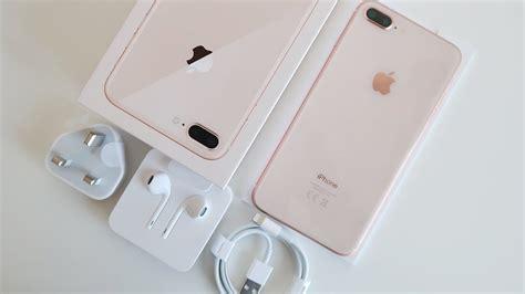 gold iphone 8 plus unboxing impressions