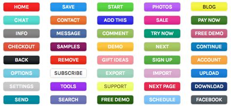 every color every color you need buttons maxbuttons pro