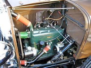 1929 ford model a sport coupe engine view