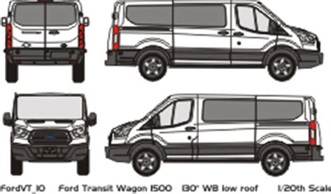 vehicle wrap templates for the 2015 ford transit van