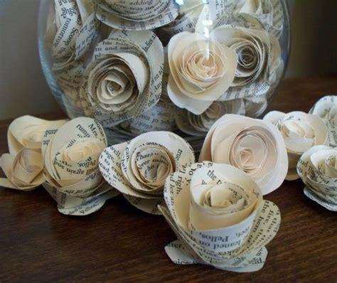 Blumen Aus Zeitungspapier by Basteln Zeitungspapier Blumen Rollrosen Glasbeh 228 Lter