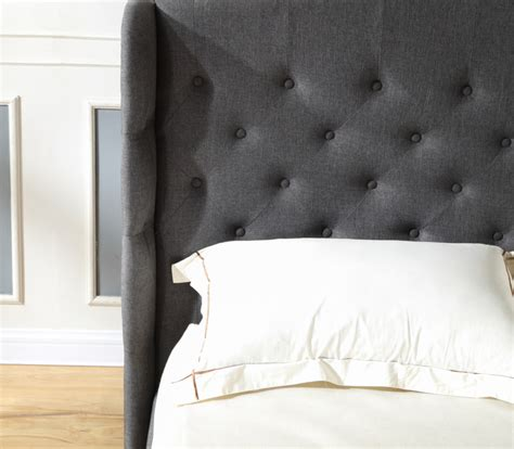 Button Upholstery Brighton by Brighton Upholstered Headboard And Platform Bed Frame Classic Brands