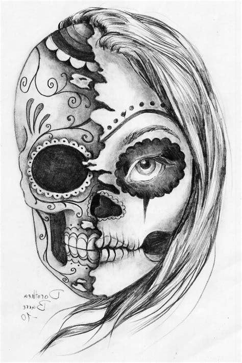 half woman half skull tattoo designs half half skull 30 amazing evil