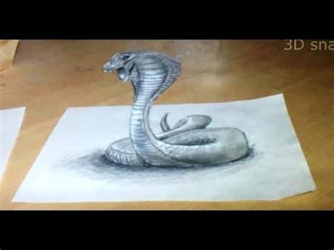 How To Make A 3d Snake Out Of Paper - anamorphic illusion drawing snake 3d time lapse