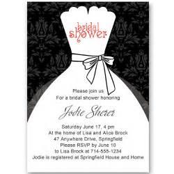 And white inexpensive wedding dress bridal shower invitations ewbs053