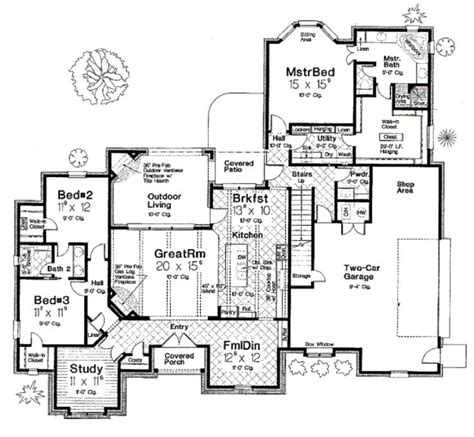 french dream 8149 4 bedrooms and 3 baths the house 412 best house plans images on pinterest arquitetura