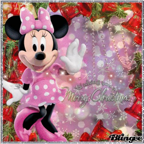 minnie mouse wishing   marry christmas picture  blingeecom