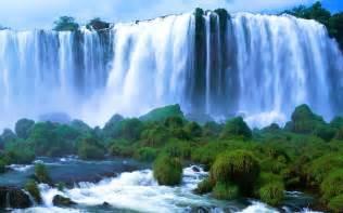 Free wallpaper of natural scenery the widest falls iguacu falls