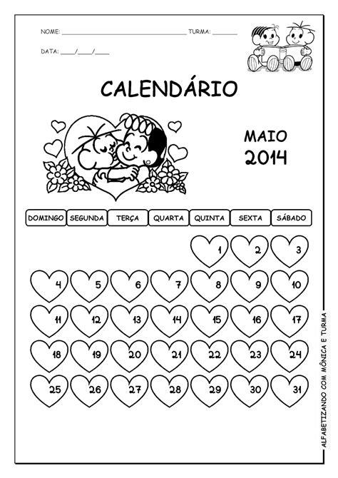 Calendã Mãªs De Maio Alfabetizando M 244 Nica E Turma Calend 225 2014 Abril