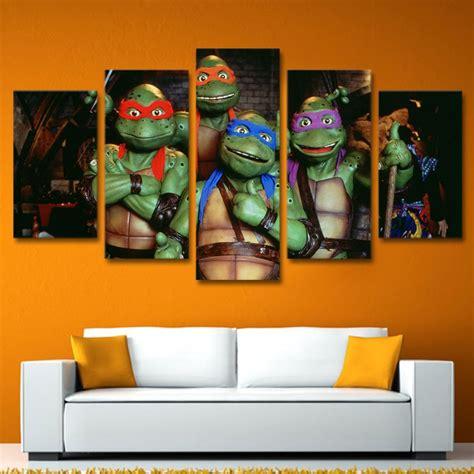 teenage mutant ninja turtles home decor teenage mutant ninja turtles movie framed 5pc oil painting