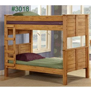 bunk beds: twin or full panel post bunk bed 3018 pc