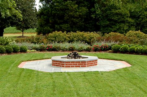 incredible landscape brick fire pit garden landscape
