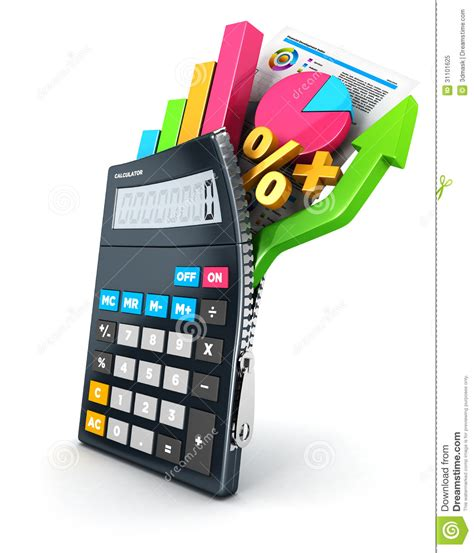 calculator x10 3 3d open calculator stock illustration image of diagram