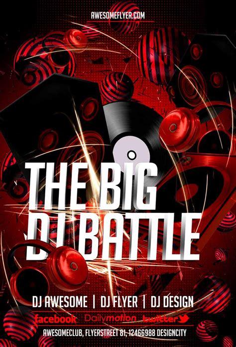 Free Dj Battle Flyer Template Awesomeflyer Com Dj Template