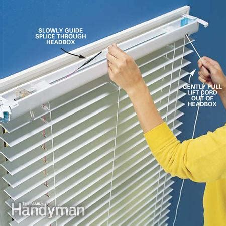 how to fix curtain blinds fixing the lift cord on a miniblind the family handyman