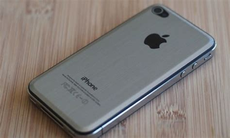 Totu Aluminium Metal Brushed Back Cover Casing Iphone 5c sleek metal cover replaces glass iphone 4 backplate wired