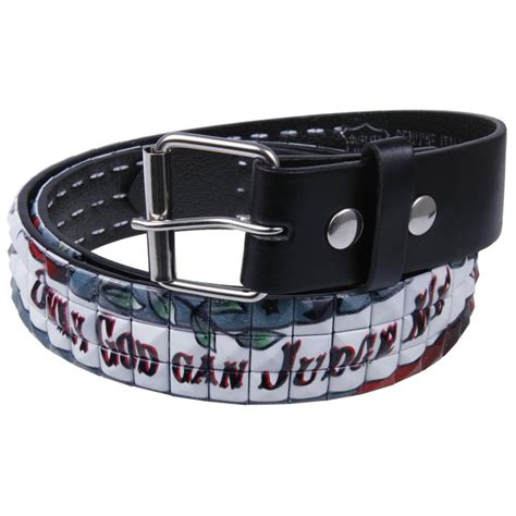 only god can judge me studded leather belt ebay