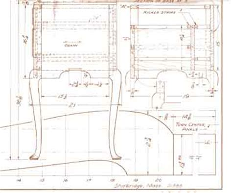 furniture blueprint maker the measured drawings of carlyle lynch