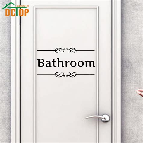 bathroom door sticker online buy wholesale vinyl adhesive signs from china vinyl