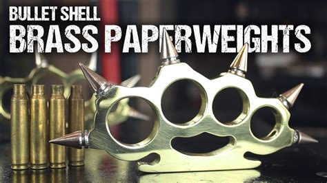 How To Make Brass Knuckles From Bullet Shells Doovi Lost Foam Templates