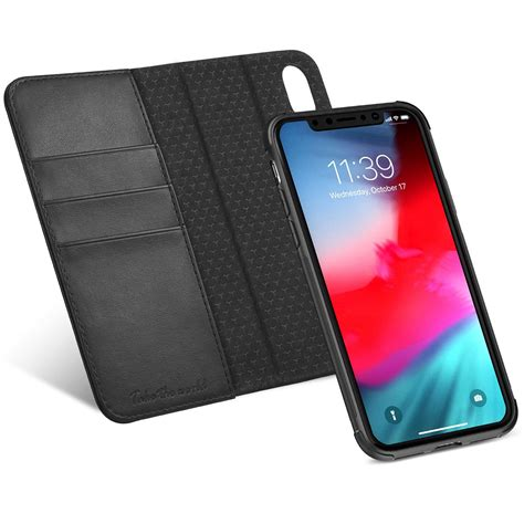 tucch iphone xr leather wallet iphone xr detachable 2in1 folio flip cover with