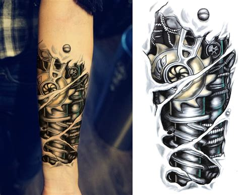 fake tattoos for men jaxx bionic temporary temporary sleeves