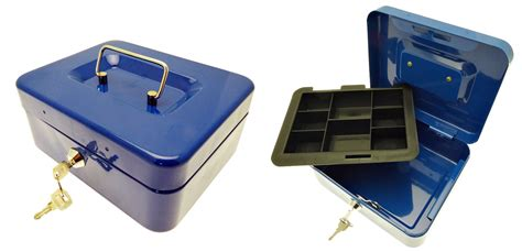 Safety Box Bank new steel petty boxes money bank safe security box coin tray holder ebay