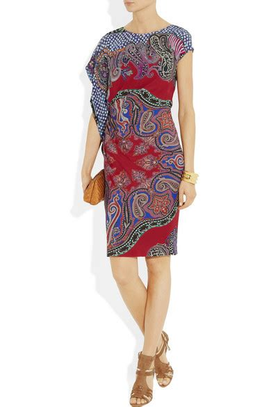 Friday Afternoon Dresses From Net A Porter by Etro Ruched Printed Crepe Dress Net A Porter