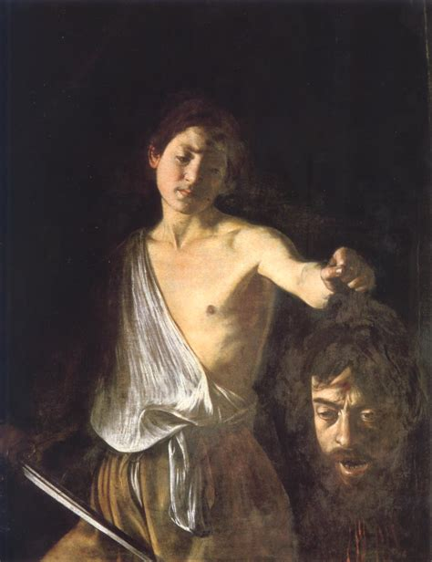 カラヴァッジョ ダヴィデとゴリアテ キリスト教美術に見る男性の肉体美 naver まとめ