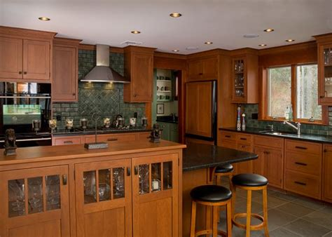 craftsman kitchen cabinets craftsman style kitchens craftsman style pinterest