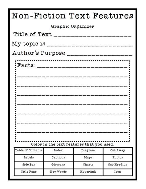 Nonfiction Text Features Worksheet by 133 Best Images About Non Fiction Text Features On
