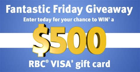 Visa Gift Card 20 500 - win a 500 rbc visa gift card freebies canada