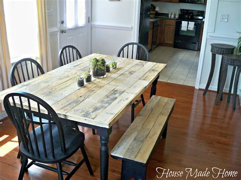 hometalk diy pallet farmhouse table