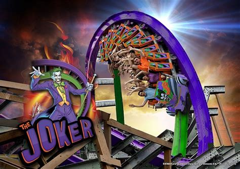 N Friends Roller Coaster the joker roller coaster revealed by six flags