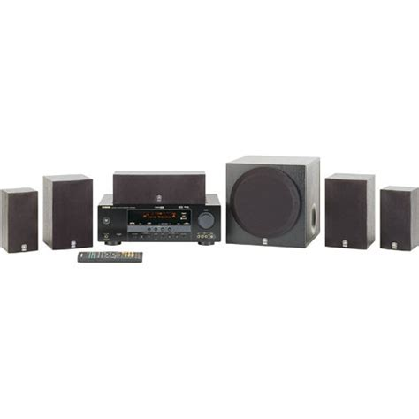 yamaha yht 380bl 5 1 channel home theater system yht 380bl b h