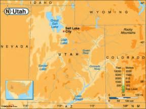 Utah Elevation Map by Utah Map