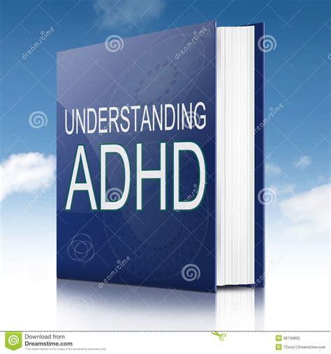 words in adhd books adhd concept stock photography image 38749802